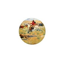 The Gathering of the Trappers, 1904 Mini Button