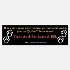 Stop Breed Specific Legislation Bumper Bumper Bumper Sticker