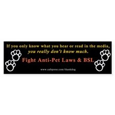 Stop Breed Specific Legislation Bumper Bumper Sticker