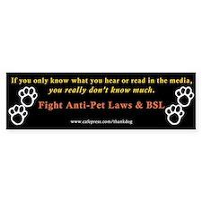Stop Breed Specific Legislation Bumper Car Sticker