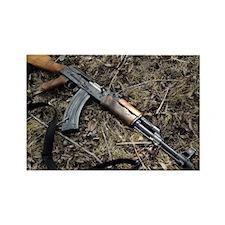 AK 47 Rectangle Magnet
