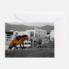 Rodeo Cowboy In Blue Greeting Card