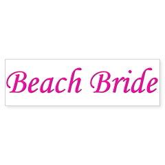 Beach Bride Bumper Bumper Sticker