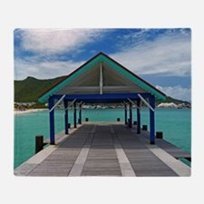 St. Maarten Pier Throw Blanket