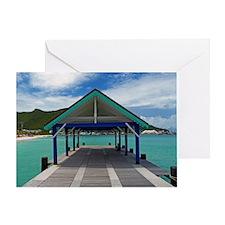 St. Maarten Pier Greeting Card