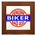 Genuine Biker BadAss Framed Tile