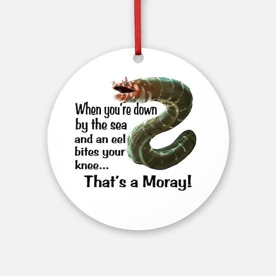 A Moray Round Ornament