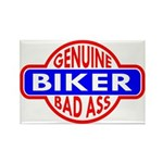 Genuine Biker BadAss Rectangle Magnet