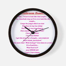 Stuff Ballroom Dancers Say Wall Clock