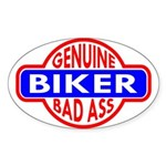 Genuine Biker BadAss Oval Sticker