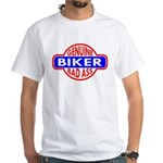 Genuine Biker BadAss White T-Shirt