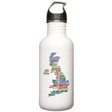 Funny, silly, and stra Water Bottle