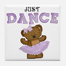 Just Dance Ballet Shirts Tile Coaster