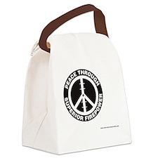 Peace thru Sup Firepower Canvas Lunch Bag