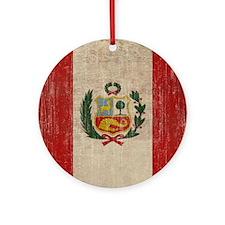 Vintage Peru Round Ornament