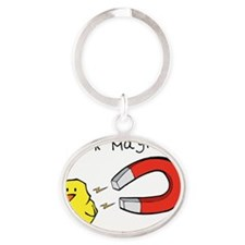 Chick Magnet Oval Keychain