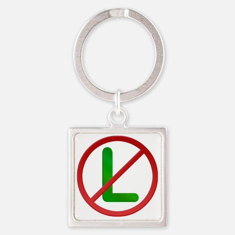 No L Noel Square Keychain
