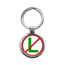 No L Noel Round Keychain
