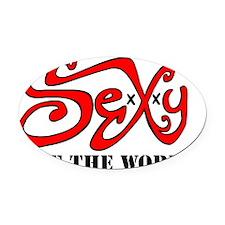 SexXxy Logo Oval Car Magnet