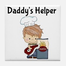 Daddys Helper BBQ Tile Coaster