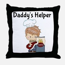 Daddys Helper BBQ Throw Pillow