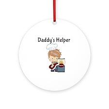 Daddys Helper BBQ Round Ornament