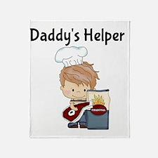 Daddys Helper BBQ Throw Blanket