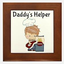 Daddys Helper BBQ Framed Tile