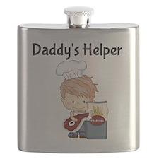 Daddys Helper BBQ Flask