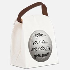 I Spike you Run Canvas Lunch Bag