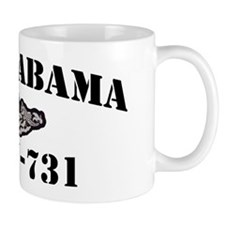 uss alabama black letters Mug