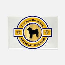 Sheepdog Walker Rectangle Magnet (10 pack)