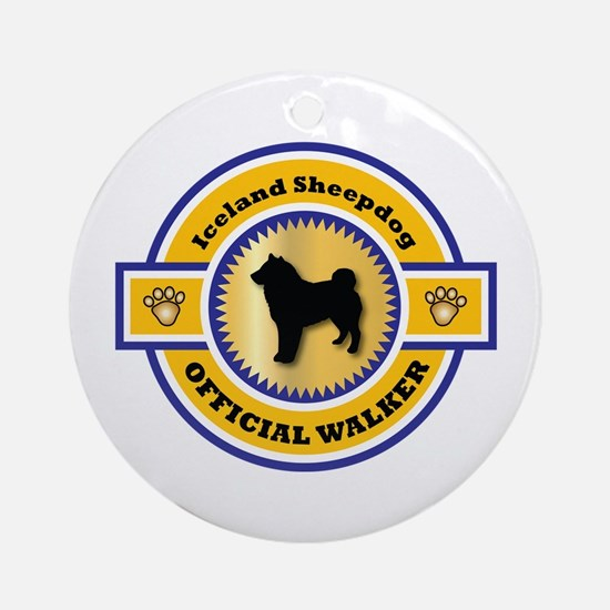 Sheepdog Walker Ornament (Round)