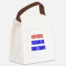 Freedom or Food Stamps Canvas Lunch Bag
