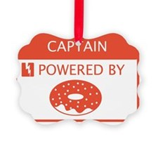 Captain Powered by Doughnuts Ornament