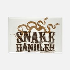 Snake Handler Rectangle Magnet