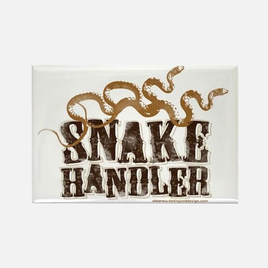 Snake Handler Rectangle Magnet