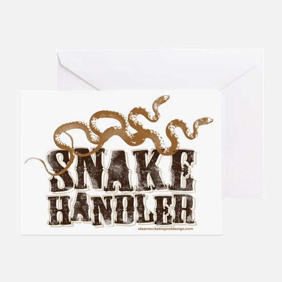 Snake Handler Greeting Card