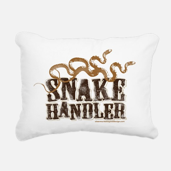 Snake Handler Rectangular Canvas Pillow
