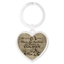 Vintage Tucson Heart Keychain