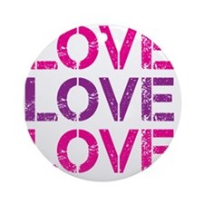 Funky LOVE - pink and purple Round Ornament