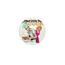 Women Love Men BBQ Mini Button