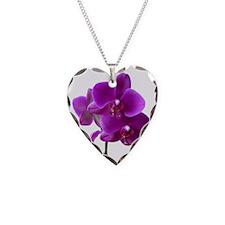 Striking Purple Orchid Flower Necklace