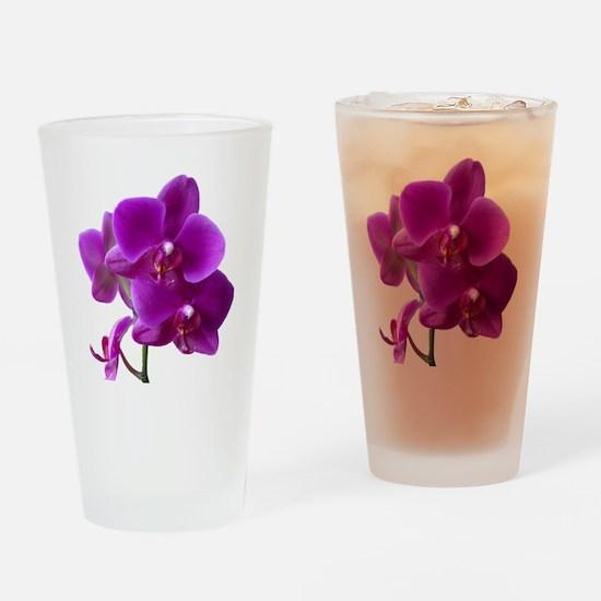Striking Purple Orchid Flower Drinking Glass
