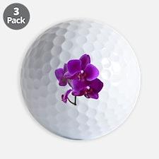 Striking Purple Orchid Flower Golf Ball