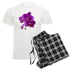Striking Purple Orchid Flower Pajamas