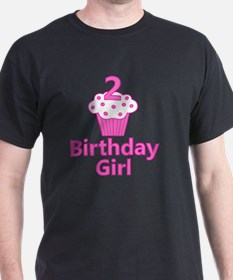 2nd Birthday Girl Cupcake T-Shirt