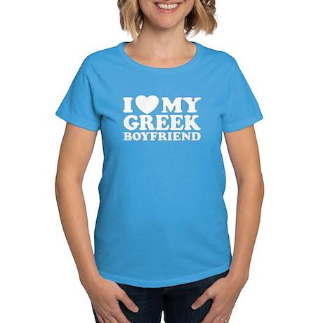 I love My Greek Boyfriend Women's Dark T-Shirt