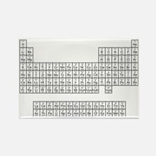 White Periodic table Rectangle Magnet