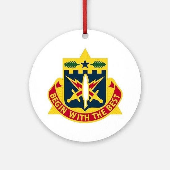 DUI - 46th AG Battalion (Reception) Round Ornament